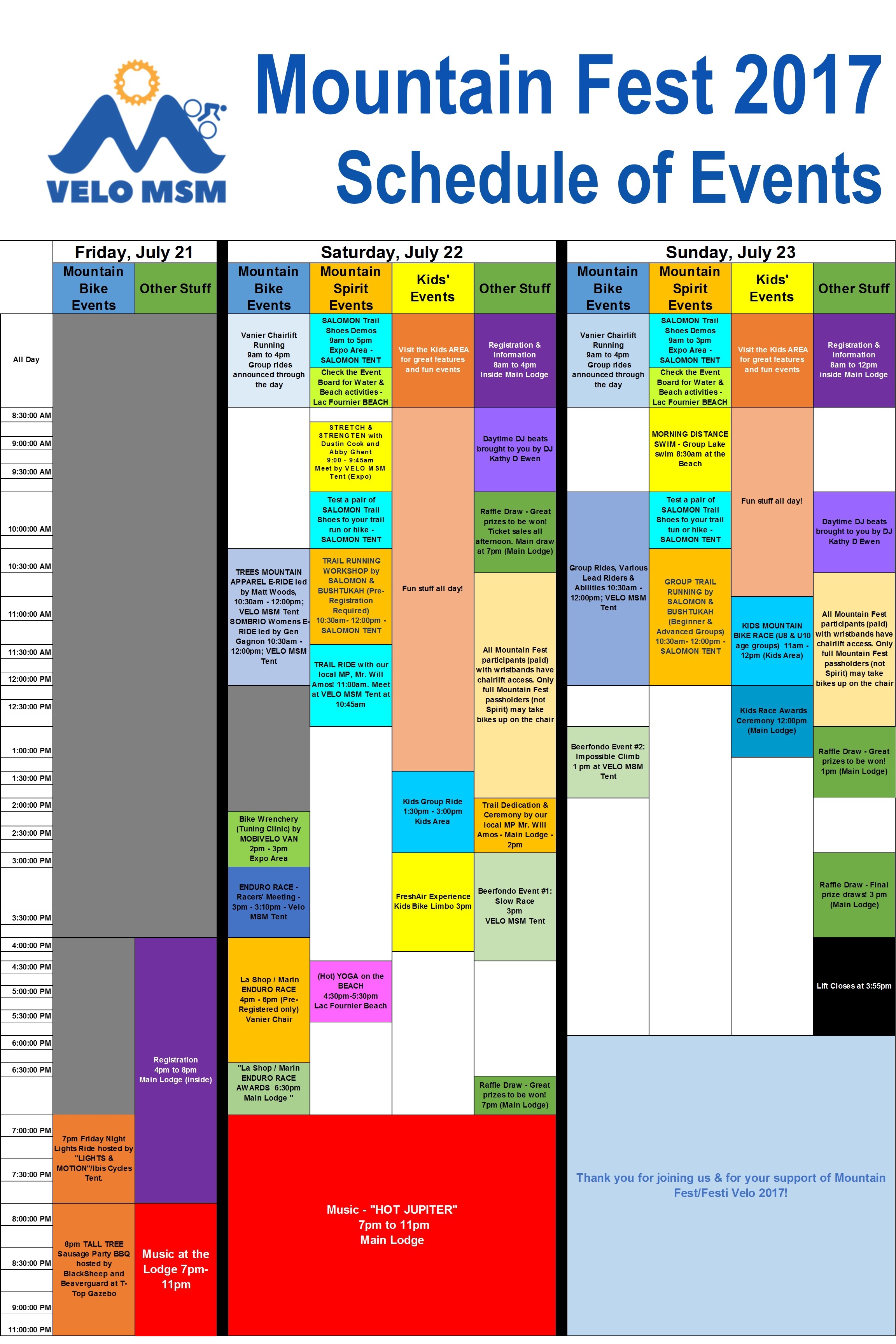 Schedule Available
