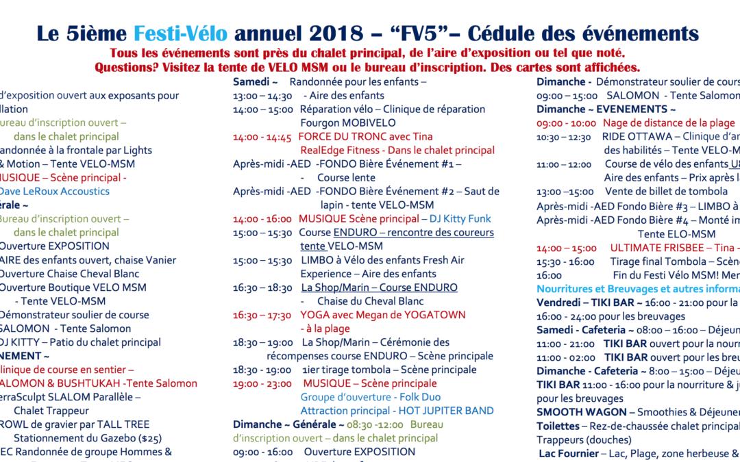 Festi-Vélo Horaire disponible